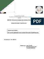Les Normes de l'Audit Financier