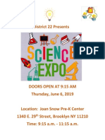 English Science Expo-District 22 English