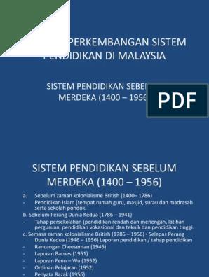 Bab 1 Perkembangan Sistem Pendidikan Di Malaysia Sebelum Merdeka