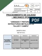 004-Procedimiento de Arenado y Pintura de Estructuras Metàlicas en Taller y Campo-caratula