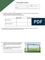 Educalção Visual - Ficha de Avaliação. 2º P.