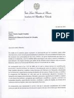 Vicepresidenta de la República expresa preocupación por denuncias de intimidaciones y acoso sexual en universidades.