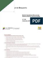 Boletin Sistema Eléctrico Nacional - Diciembre 2013