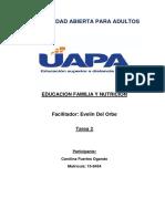 TAREA 2 EDUCACIÓN FAMILIA Y NUTRICIÓN