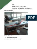 apoio à atividade laboratorial-AL 1.5 movimento uniforme retardado