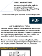 Unit Built Machine Tools