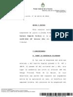 Sentencia de la justicia argentina respecto al caso Gustavo Cordera