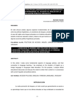 PLANIFICACIÓN Y POLÍTICAS LINGÜÍSTICAS EN LA ENSEÑANZA DE LENGUAS EXTRANJERAS