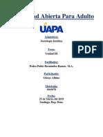 Universidad Abierta Para Adulto - Sociología Jurídica  - Tarea III.docx