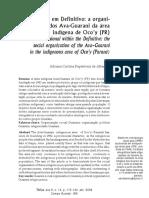 O Processo de Reconstrução Da Territorialidade Guarani