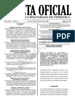 Gaceta Oficial 41601 Sumario