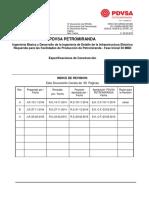 Especificaciones de Construcción PETROMIRANDA