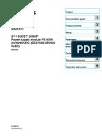SIEMENS S7-1500 Power Module Ps 60w 24-48-60vdc Manual en US en-US