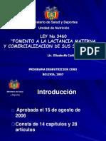 Ley de Fomento de Lactancia Bolivia