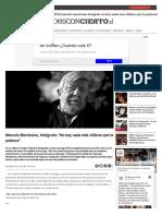 """Marcelo Montecino """"La Fotografía Tiene Que Tener Un Poder Emotivo"""""""