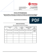 Especificaciones de Aisladores PETROMIRANDA
