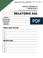 Modelo Relatório de Aulas Práticas