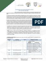 Cronograma Escolar Costa 2019-2020 General