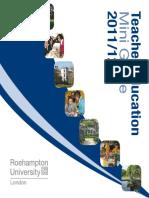 Teacher Education Mini Guide 2011/12