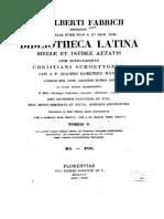 1668-1736, Fabricius JA, Bibliotheca Latina Mediae Et Infimae Aetatis. Vol 3, LT