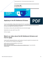 EU Citizens' Rights in the UK – UK Government's Offer to EU Citizens in the UK