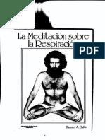 La meditacion sobre la respiracion