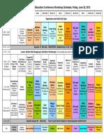 Ocean Network Conference Schedule