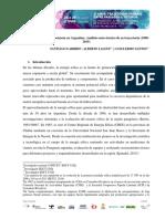 Energía Eólica de Alta Potencia en Argentina - Análisis Socio-técnico de Su Trayectoria