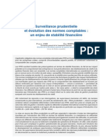 surveillance_prudentielle et évolution des normes comptables ; un enjeu de stabilité financière