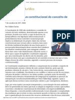 ConJur - Uma Perspectiva Constitucional Do Conceito de Meio Ambiente
