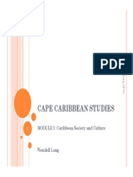 1&2 Essays Writing and Definitions of the Caribbean