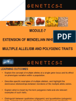 10. Multiple Allelism and Polygenic Traits