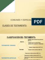 Testamentos Comunes y Especiales