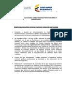 Resumen de Avances en El Sistema Penitenciario y Carcelario