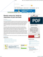 Electric motors tip Verify Test Lead Cleanliness
