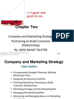 Chapter 2 Company and Marketing Strategy Partnering to Build Customer Relationships