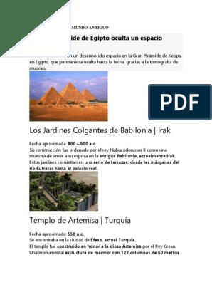 Los Jardines Colgantes De Babilonia Irak La Gran Piramide De
