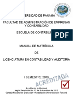 FAECO Manual Matricula 1sem 2019 Auditoria