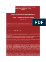 Propuesta Plan de Desarrollo Integral Comunitario Consejo Comunal San Nicolás de BarísPeriodo 2010.docx