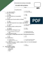 Examen de Segundo Comunicación