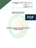 Programa de Induccion y Reinduccion Ese Hsr