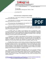 crisis management Critic paper.docx