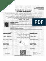 Certificados de Nacimiento