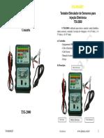 Manual Teste de Sensores Para Injecao Eletronica Tsi 2000 Planatc