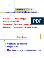La Comunicacion e Identidad Cultural Nacional