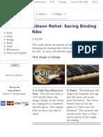 Gibson Refret_ Saving Binding Nibs Finger Lakes Guitar Repair