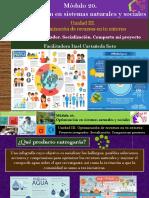 Proyecto integrador. Socialización. Comparto mi proyecto.