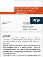 Design and Structural Analysis of Spur Gear Using Various Materials
