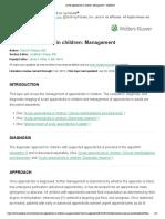 Acute Appendicitis in Children Management UpToDate 04 03 2019