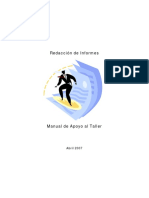 Manual redactar informes